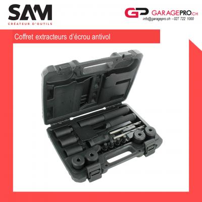 Set extracteur d'écrous antivol SAM par Garagepro.ch vue d'ensemble avec la malette
