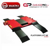 Pont ciseaux pneumatique Atek 3 tonnes par Garagepro.ch vue de trois-quart