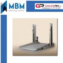 Pont parking 2500 kg galvanisé MBM Duplicatore par Garagepro.ch - vue position basse